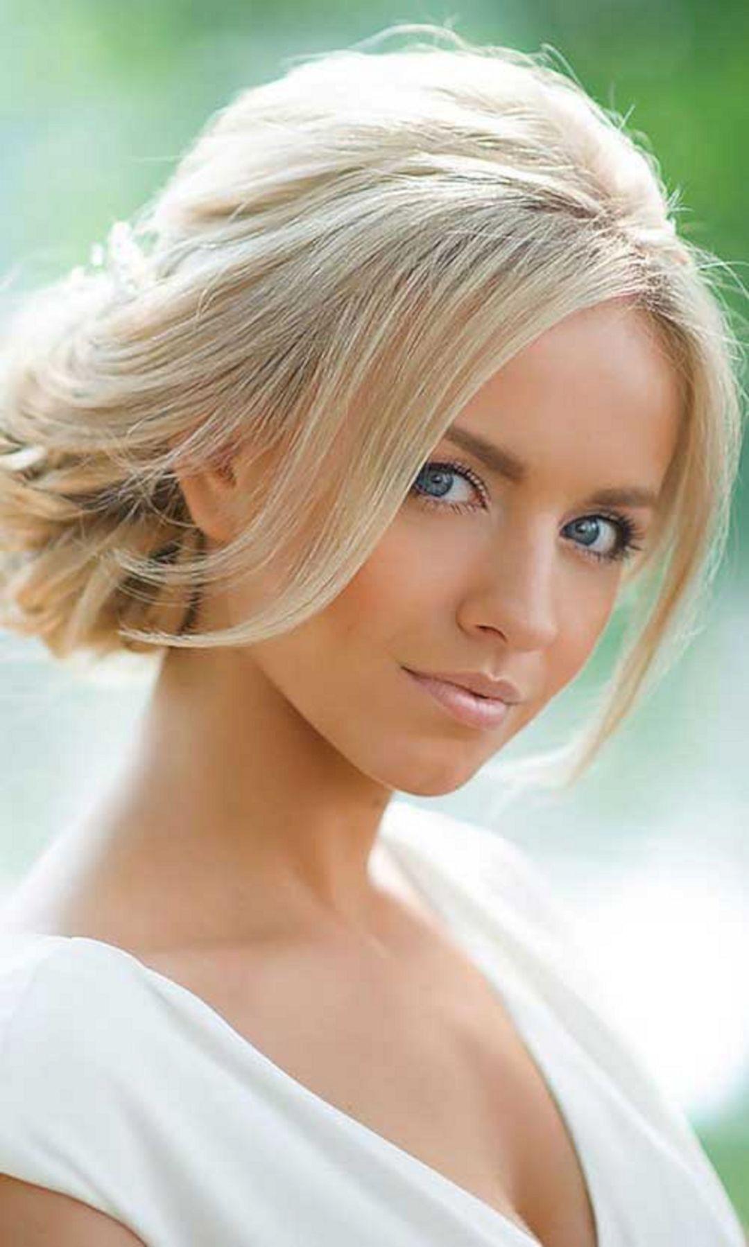 Short Bridesmaids Hairstyles  Wedding Bridesmaid Hairstyles for Short Hair – OOSILE