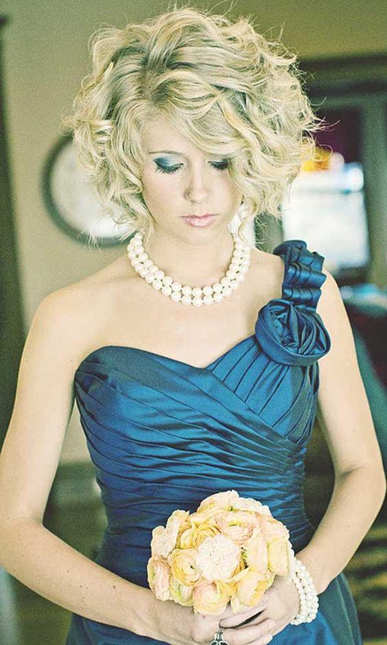 Short Bridesmaids Hairstyles  y Wedding Hairstyles for Short Hair