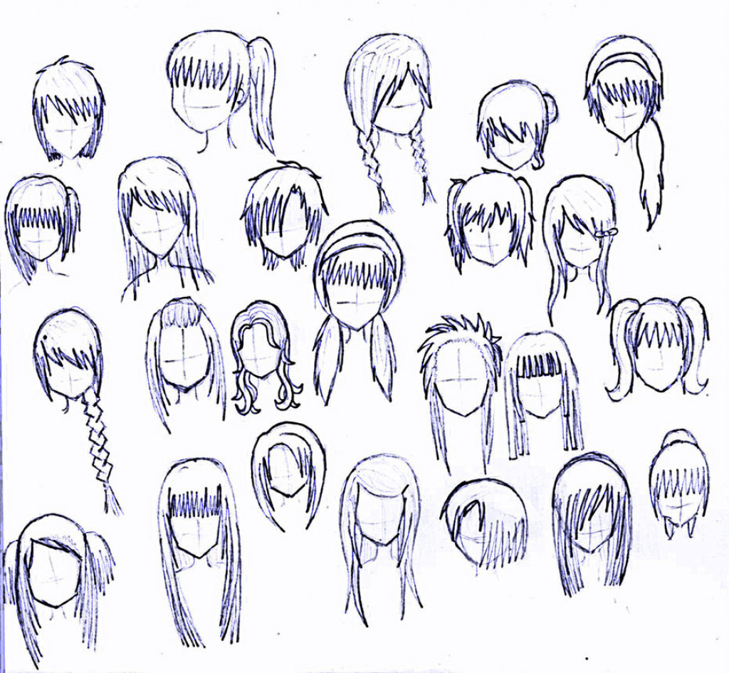 Best ideas about Short Female Anime Hairstyles . Save or Pin Anime Girl Hairstyles Drawings Drawing Anime Girl Hair Now.