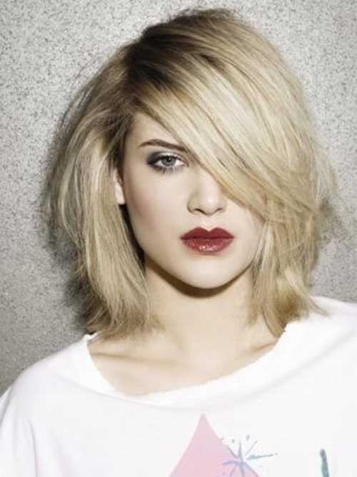 Short Haircuts With Side Bangs  Pretty Short Bob Hairstyles with Side Swept Bangs