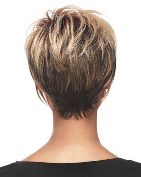 Short Hairstyles Front And Back View 2019  Back View of Short Haircuts