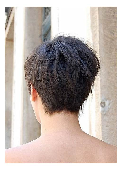 Short Hairstyles Front And Back View 2019  Back View Short Stacked Bob Haircuts Front And Very