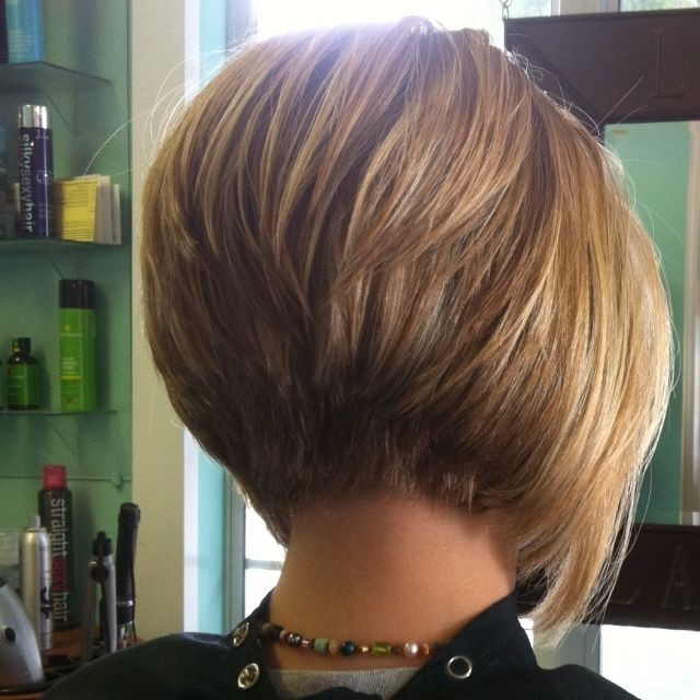 Short Hairstyles Front And Back View 2019  layered stacked bob haircut photos front and back Yahoo