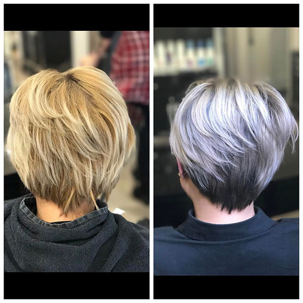 Short Hairstyles Front And Back View 2019  Best Short Hairstyles for Older Women in 2019 The UnderCut