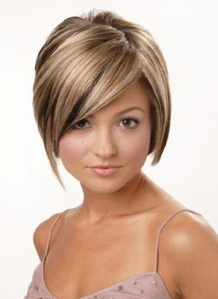 Short Highlights Hairstyles  Short Hairstyles with Burgundy Highlights