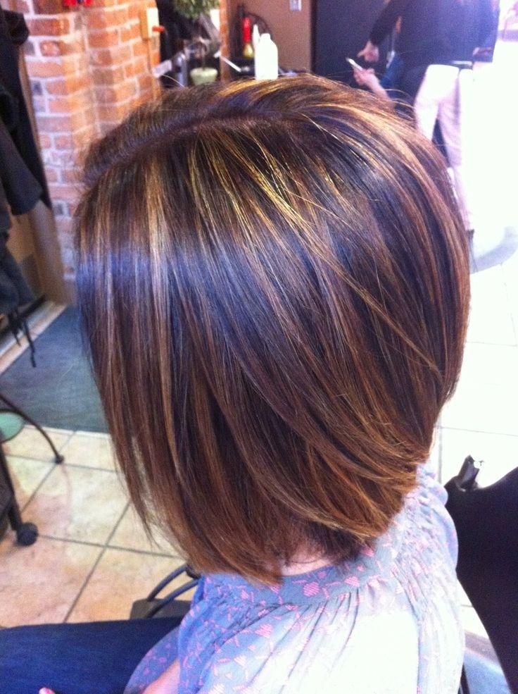 Short Highlights Hairstyles  16 Chic Stacked Bob Haircuts Short Hairstyle Ideas for
