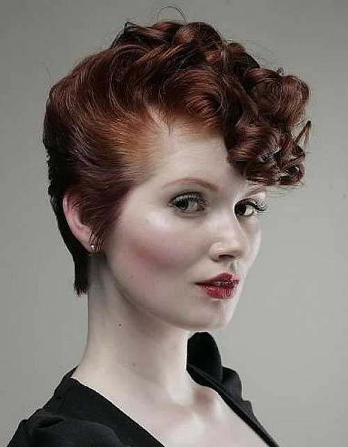 Short Retro Hairstyle  20 Very Short Curly Hairstyles