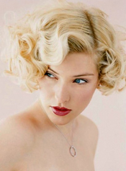 "Short Retro Hairstyle  50 Best Short Wedding Hairstyles That Make You Say ""Wow """