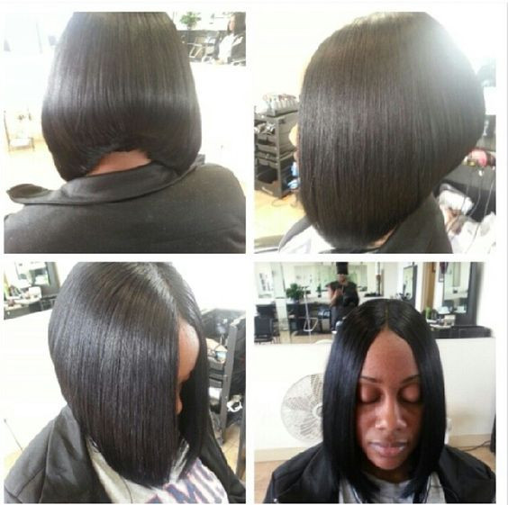 Short Sew In Hairstyles With Invisible Part  Invisible Part Bob Hairstyles Pinterest