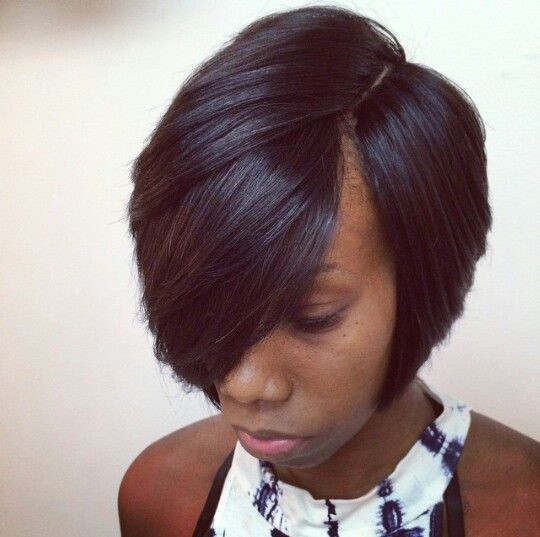 Short Sew In Hairstyles With Invisible Part  Best 25 Invisible part weave ideas on Pinterest
