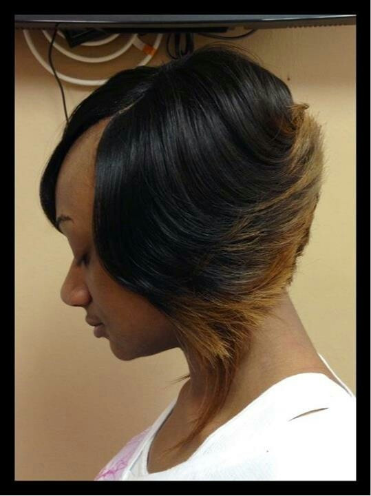 Short Sew In Hairstyles With Invisible Part  Invisible part sew in