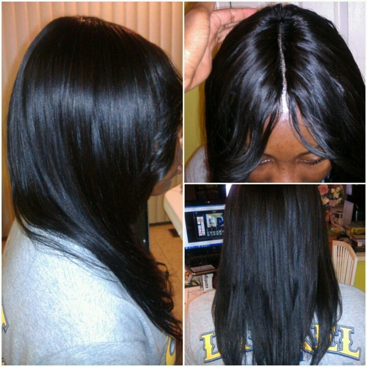 Short Sew In Hairstyles With Invisible Part  Invisible part Sew in Hair Did