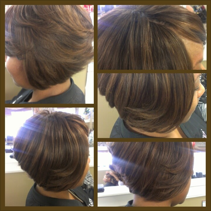 Short Sew In Hairstyles With Invisible Part  Sew In Bob Hairstyles Invisible Part HairStyles