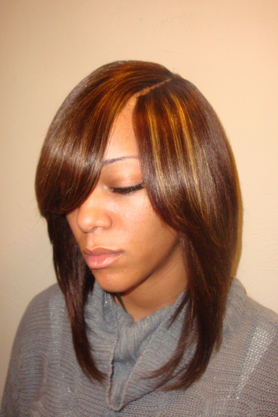 Short Sew In Hairstyles With Invisible Part  sew in bob hairstyles invisible part 255