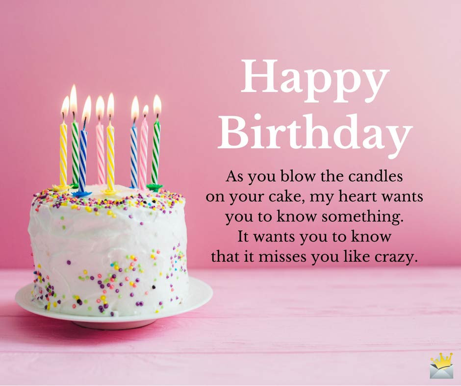 Best ideas about Should I Wish My Ex Happy Birthday . Save or Pin Birthday Greetings for my Ex Now.