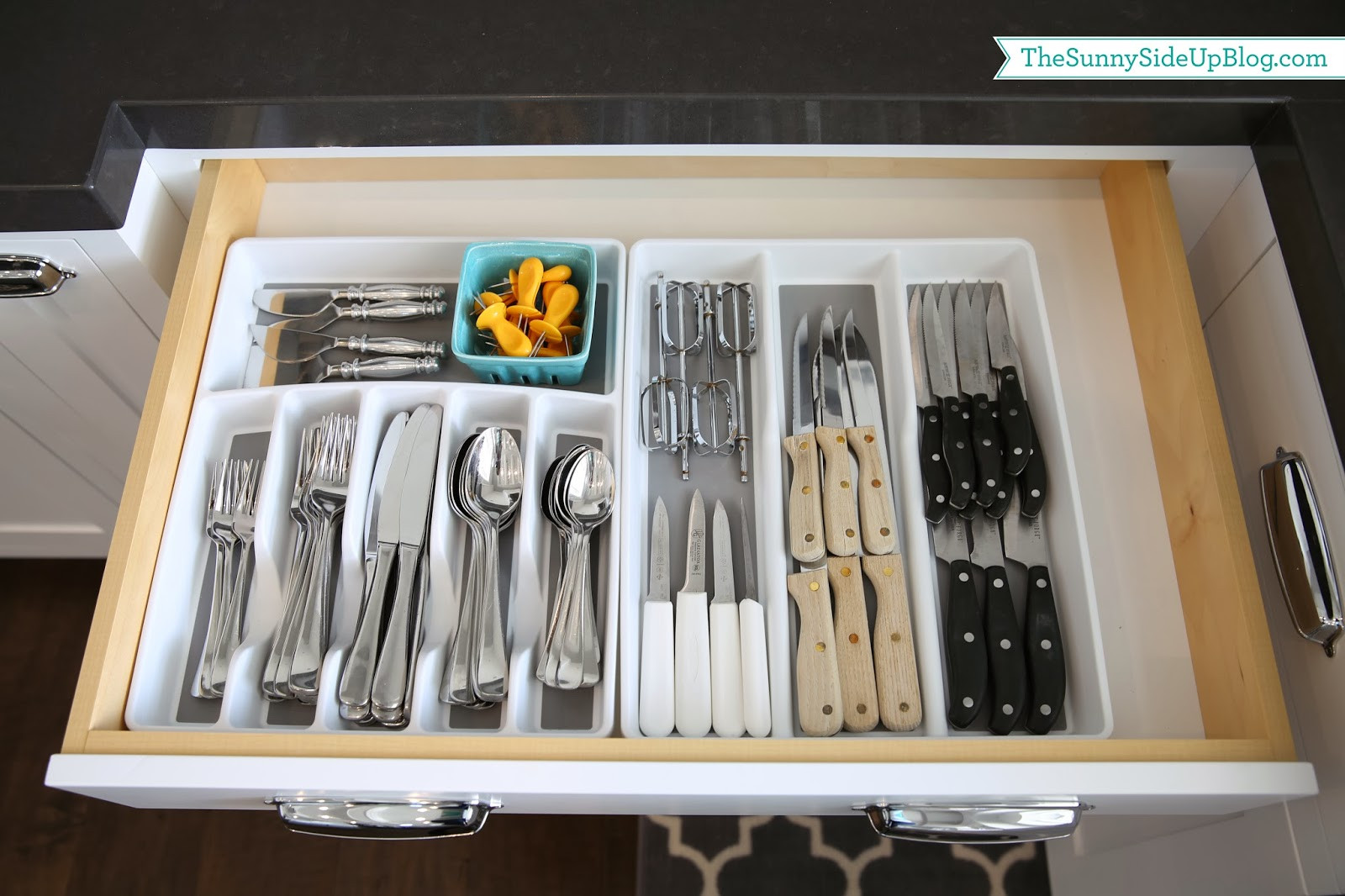 Best ideas about Silverware Storage Ideas . Save or Pin Organized Silverware The Sunny Side Up Blog Now.