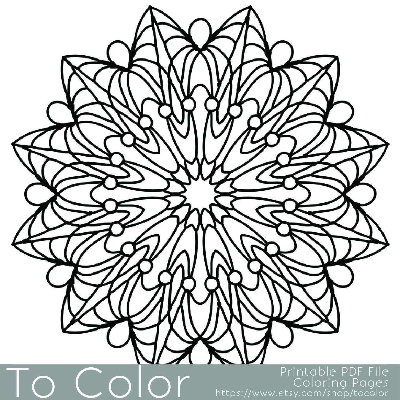 Simple Adult Coloring Pages  Simple Printable Coloring Pages for Adults Gel Pens Mandala