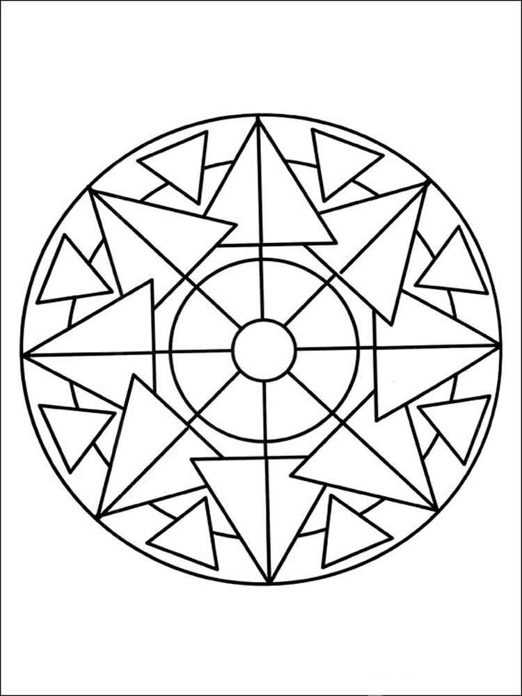 Simple Adult Coloring Pages  Simple mandala coloring pages for adults Free Printable