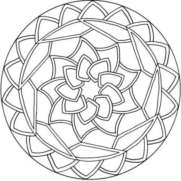 Simple Adult Coloring Pages  simple mandala coloring pages Mandala