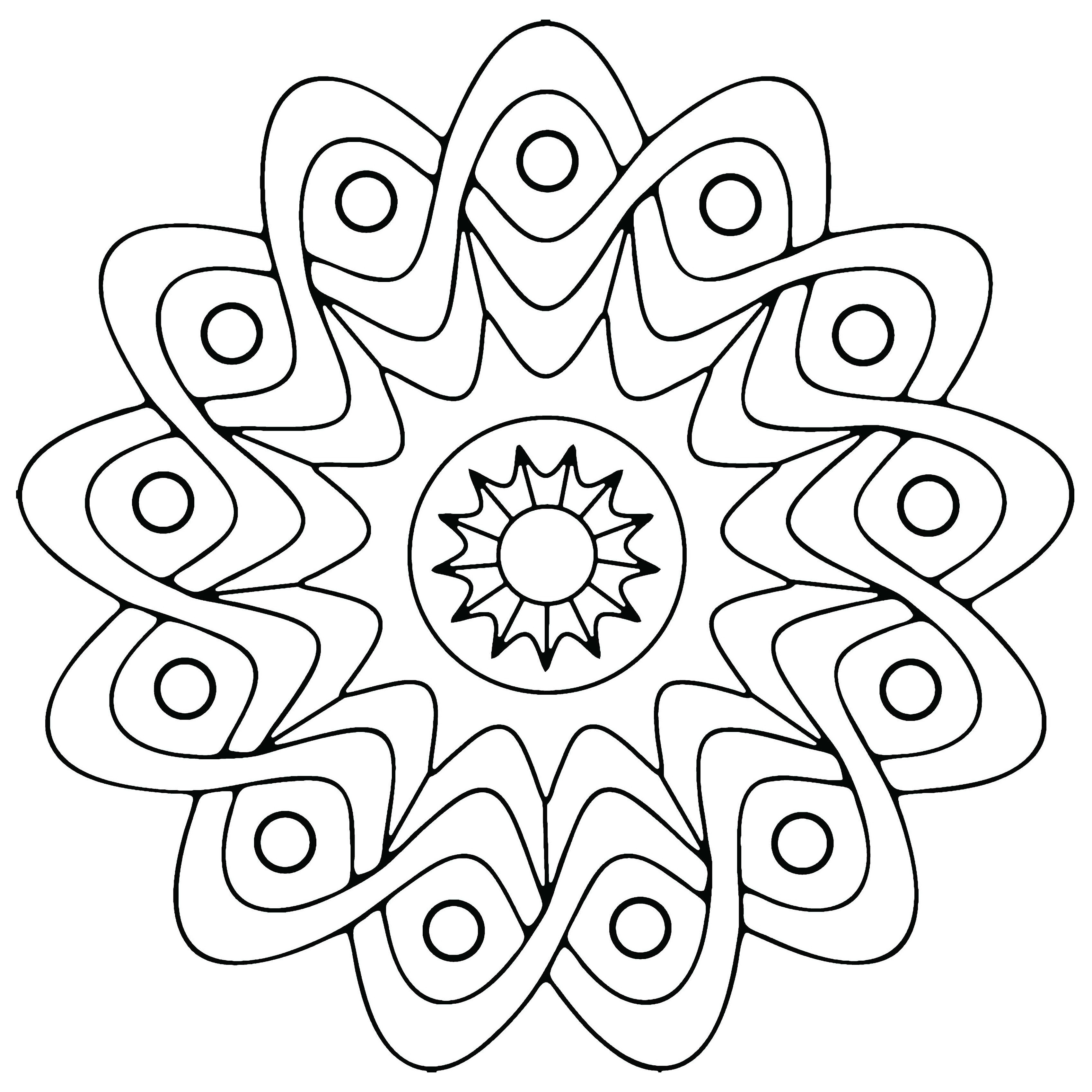 Simple Adult Coloring Pages  Free Printable Geometric Coloring Pages For Kids