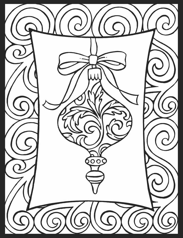Simple Adult Coloring Pages  Christmas Coloring Pages for Adults Best Coloring Pages