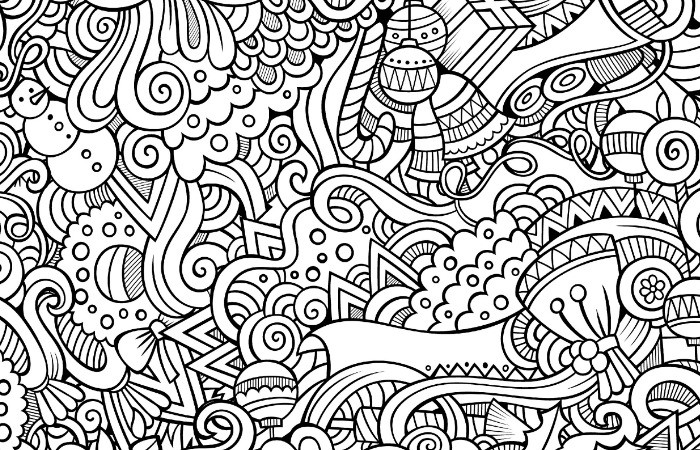 Simple Adult Coloring Pages  10 Free Printable Holiday Adult Coloring Pages