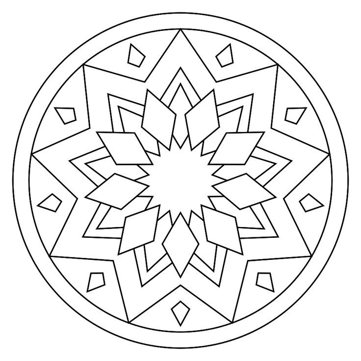 Simple Adult Coloring Pages  Simple Adult Coloring Pages