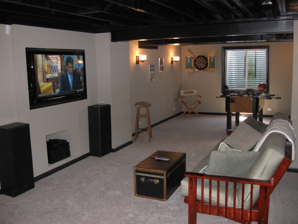 Best ideas about Simple Basement Ideas . Save or Pin Affordable Basement Finish for new and existing homes Now.