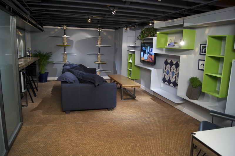 Best ideas about Simple Basement Ideas . Save or Pin Basement Decorating Ideas with Modern and Rustic Themes Now.