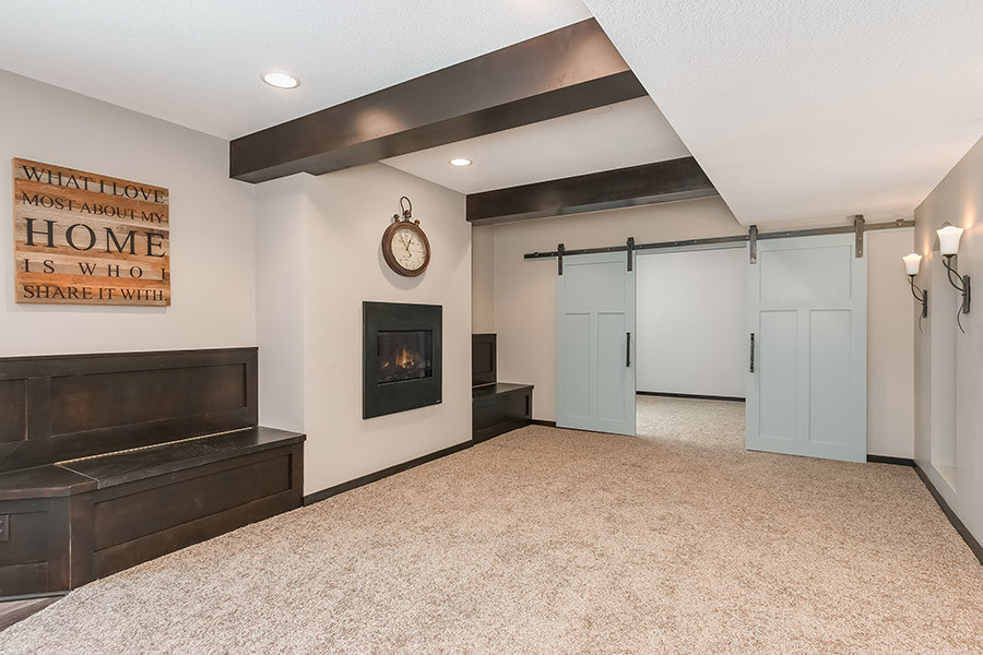 Best ideas about Simple Basement Ideas . Save or Pin Simple Finished Basement Home Design Now.