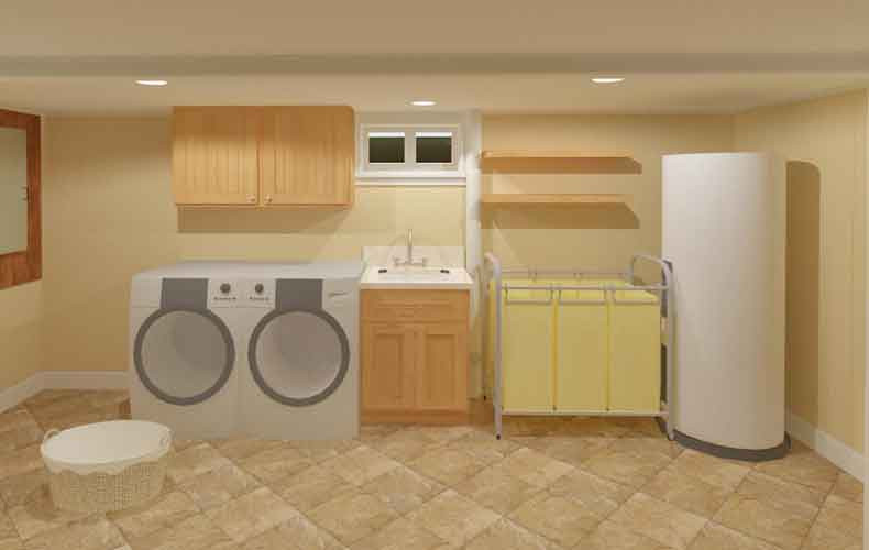 Best ideas about Simple Basement Ideas . Save or Pin Basement Laundry Room Ideas and Storage Solutions Now.