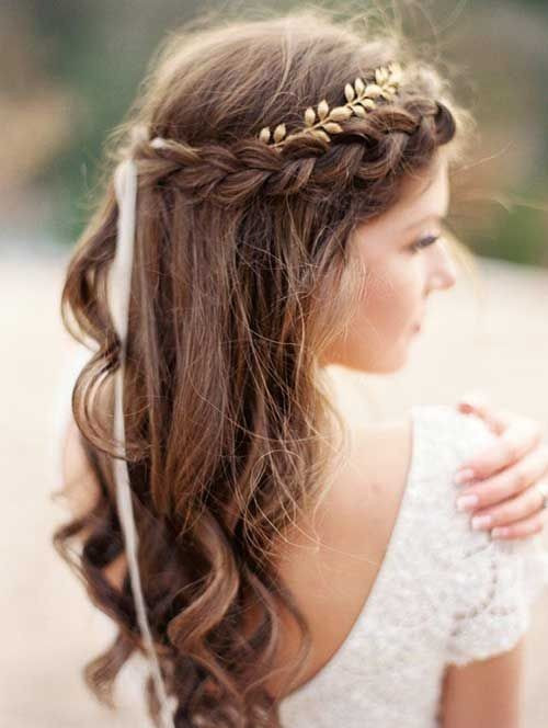Simple Bridesmaid Hairstyles  10 Pretty Braided Hairstyles for Wedding Wedding Hair