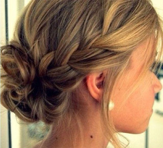 Simple Bridesmaid Hairstyles  Simple updo braid bridesmaid hair