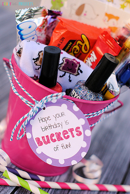 "Best ideas about Simple Gift Ideas For Girlfriend . Save or Pin ""Buckets of Fun"" Birthday Gift Idea Now."