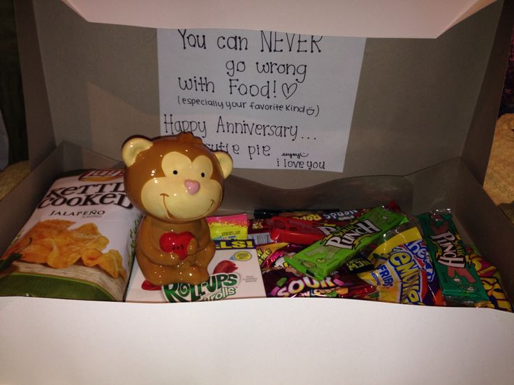 Best ideas about Simple Gift Ideas For Girlfriend . Save or Pin You can never go wrong with food just a giant box and Now.
