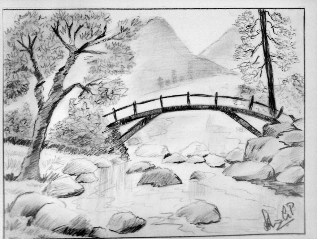 Best ideas about Simple Landscape Drawing . Save or Pin Pencil Sketches Landscapes Drawing Sketch Library Now.