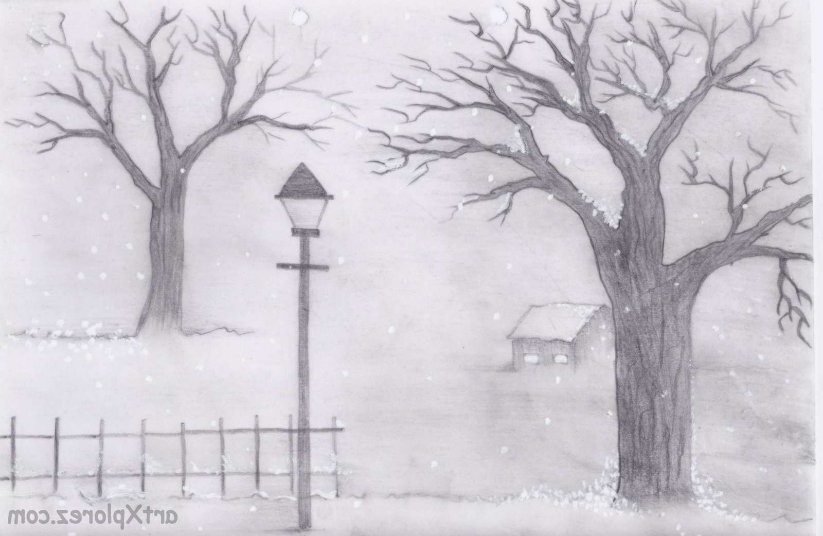 Best ideas about Simple Landscape Drawing . Save or Pin Easy Landscape Sketches Easy Pencil Sketches Landscapes Now.