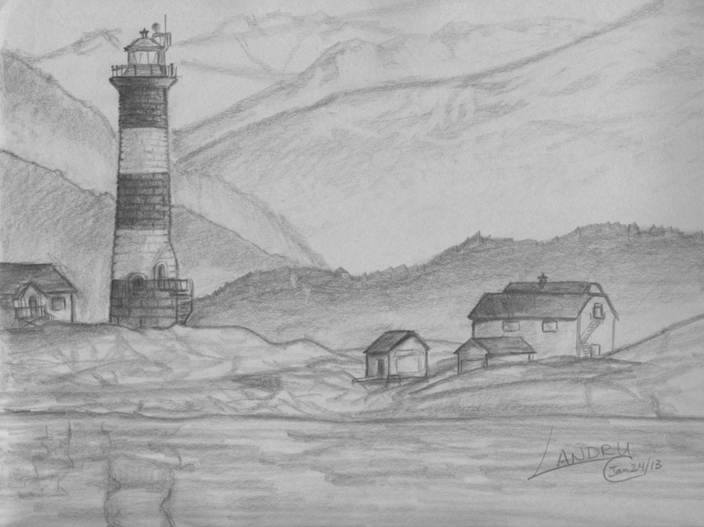Best ideas about Simple Landscape Drawing . Save or Pin Easy Landscape Drawings Pencil Drawing Sketch Library Now.