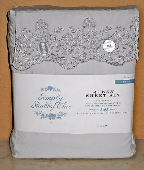 Best ideas about Simply Shabby Chic Sheet . Save or Pin Full Size Dusty Grey Sheet Set Simply Shabby Chic Now.