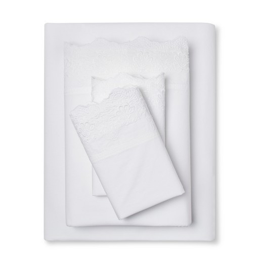 Best ideas about Simply Shabby Chic Sheet . Save or Pin Woodrose Embroidered Hem Sheet Set Full White Simply Now.