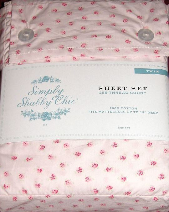 Best ideas about Simply Shabby Chic Sheet . Save or Pin SIMPLY SHABBY CHIC 3 piece TWIN SIZE MON AMI SHEET set Now.
