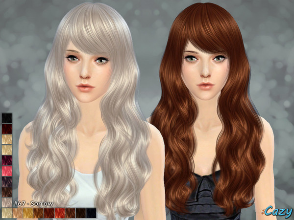 Sims 4 Hairstyles Female  Cazy s Sorrow Hairstyle Sims 4