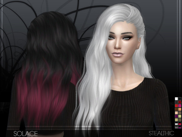 Sims 4 Hairstyles Female  Stealthic Solace Female Hair
