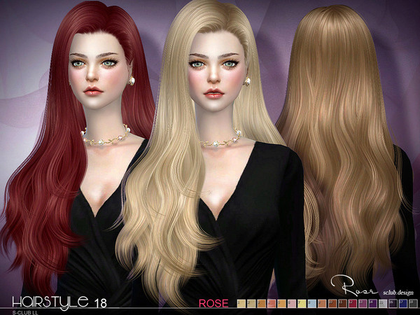 Sims 4 Hairstyles Female  S Club s sclub ts4 hair Rose n18 update07 04 2017