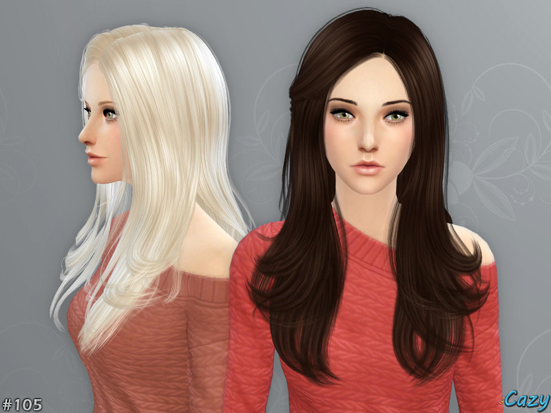 Sims 4 Hairstyles Female  Cazy s Starlight Hairstyle Sims 4