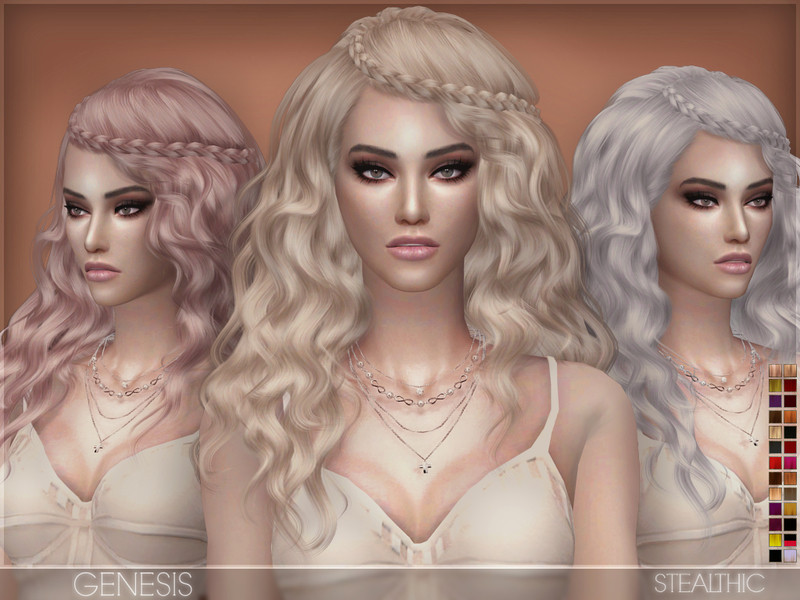 Sims 4 Hairstyles Female  Stealthic Genesis Female Hair