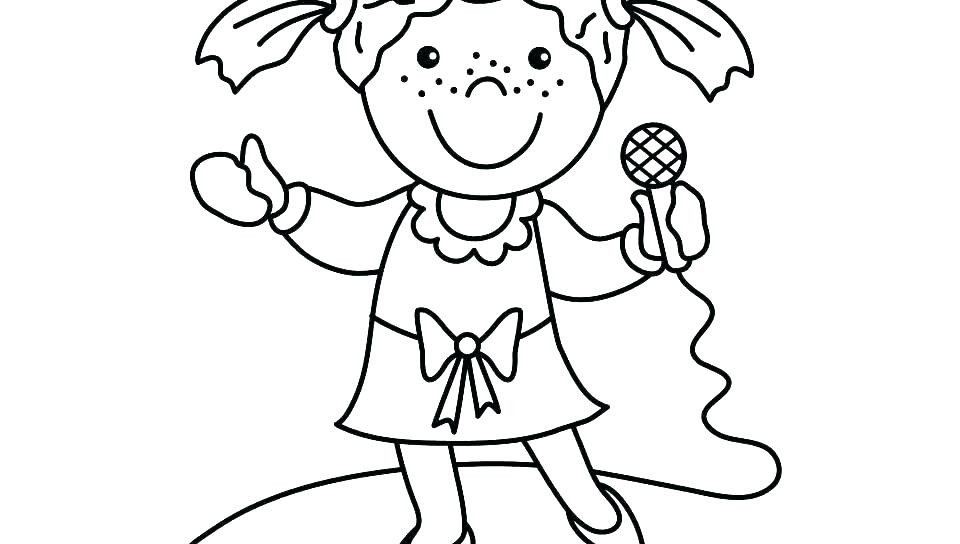 Singer Coloring Pages For Kids  Coloring Pages Famous Singers Swift Page For Kids Color