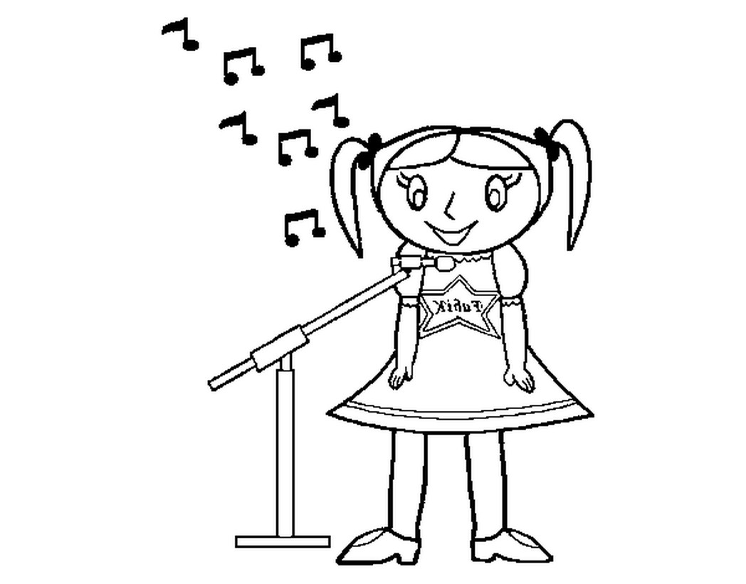 Singer Coloring Pages For Kids  Singing Coloring Pages Kidsuki