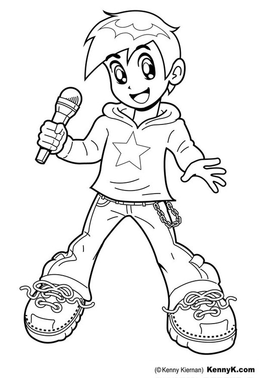 Singer Coloring Pages For Kids  Coloring page singer img