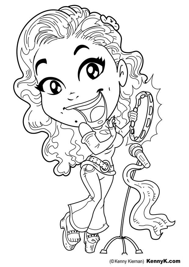 Singer Coloring Pages For Kids  Singer Coloring Page For Kids Coloring Home